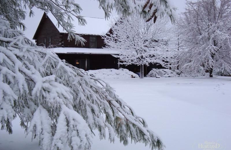 Winter at Harpole's Heartland Lodge.
