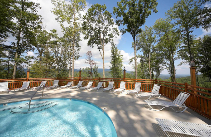 Rental pool at American Mountain Rentals.