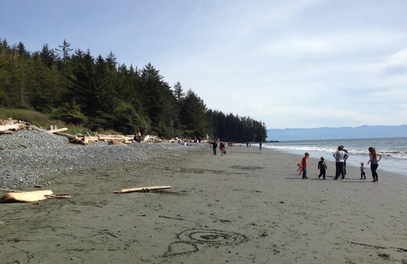 Beach at Ocean Wilderness Inn & Spa Retreat.