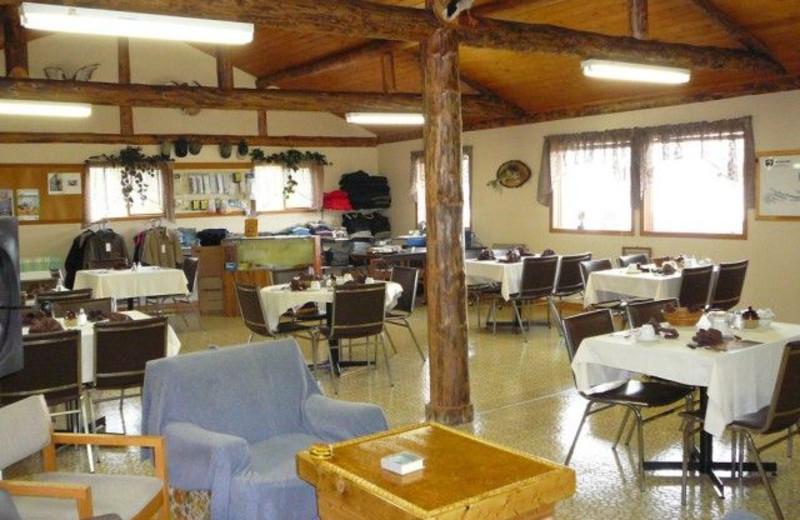 Lodge interior at Uchi Lake Lodge.