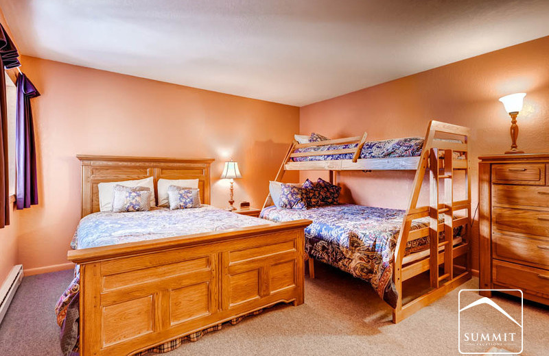 Rental bedroom at Summit Vacations.