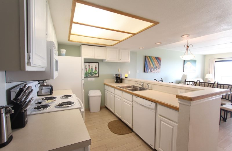 Rental kitchen at Seabreeze I.