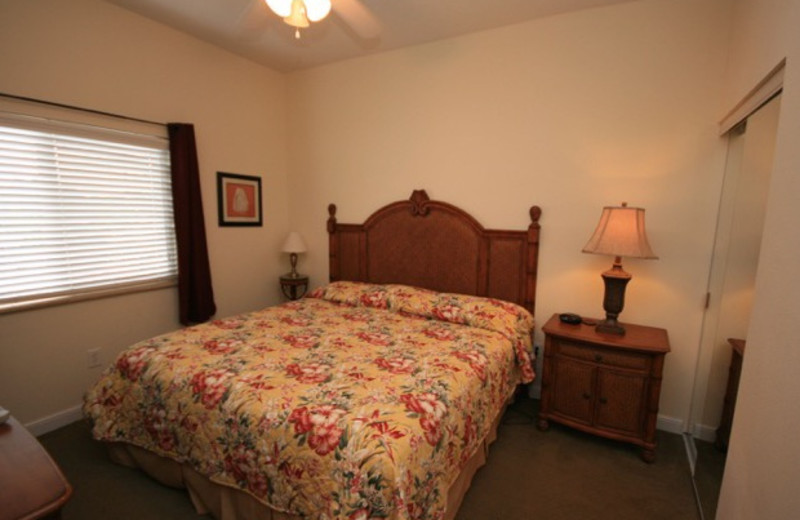 Rental bedroom at Boca Ciega Resort.