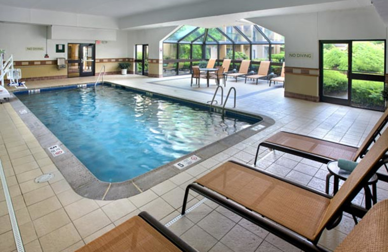 Indoor pool at Courtyard by Marriott Lincroft Red Bank.