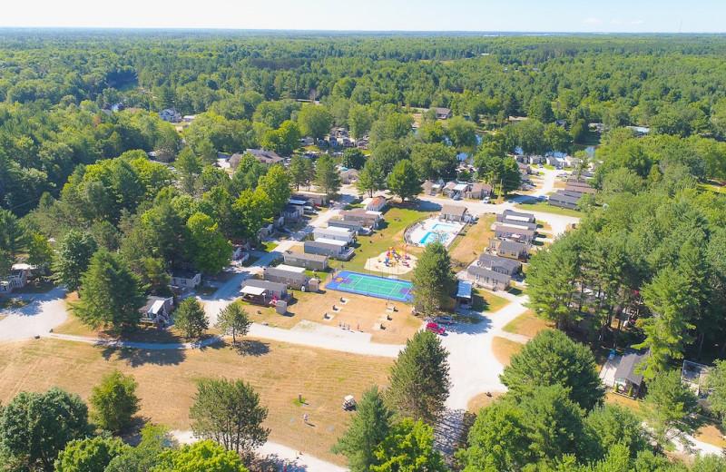 Aerial view of Great Blue Resorts- Shamrock Bay Resort.