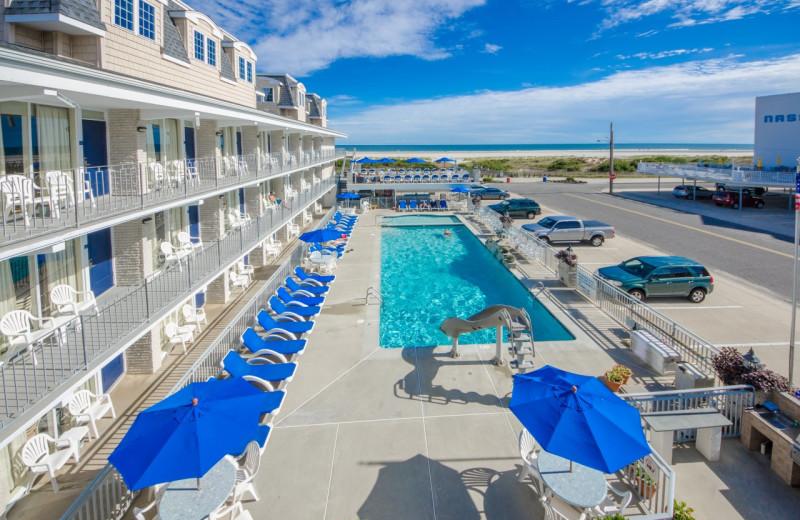 Outdoor pool at Fleur De Lis Beach Resort.