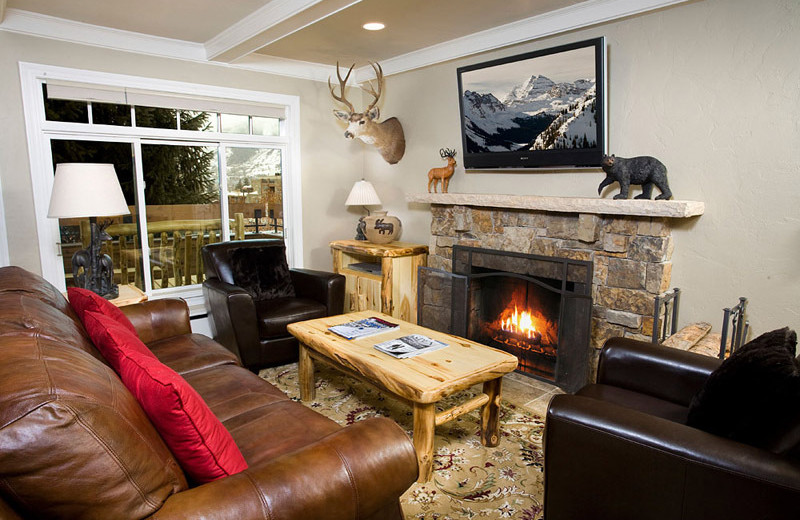 Rental living room at Frias Properties of Aspen.