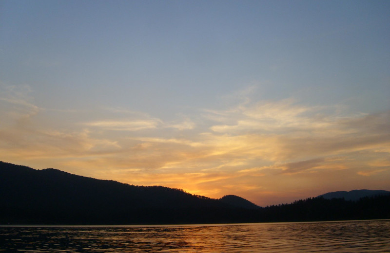 Sunset at Lake Pactola near Summer Creek Inn & Spa.