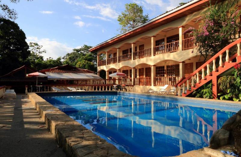 Outdoor pool at Hotel Las Tres Banderas.