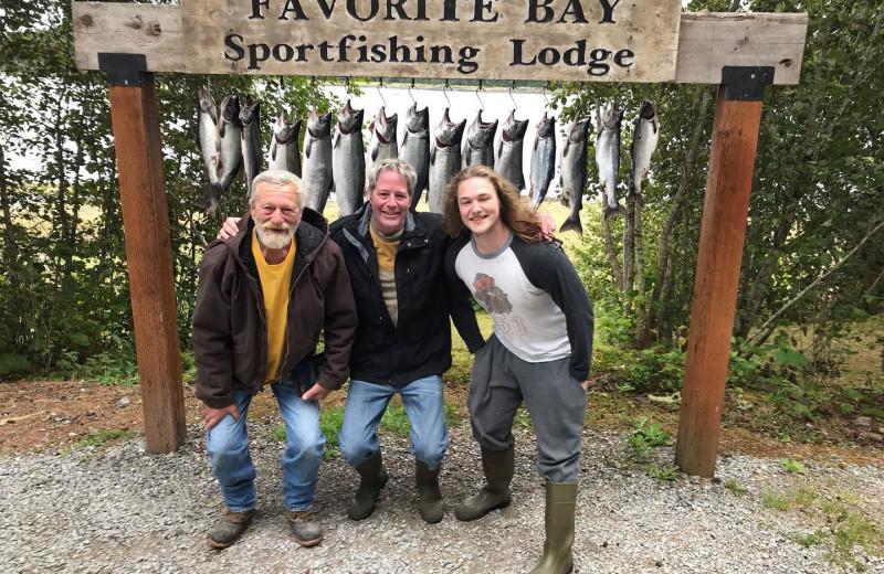 Fishing at Favorite Bay Lodge.
