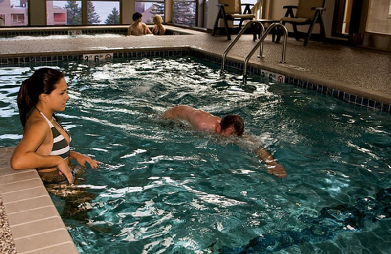 Indoor pool at Bluefin Bay on Lake Superior.