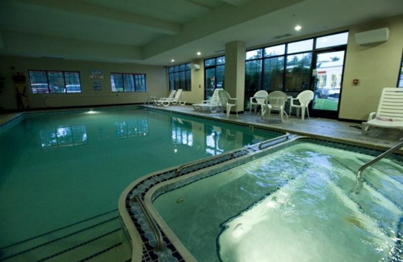 Indoor pool at ParkShore Resort.
