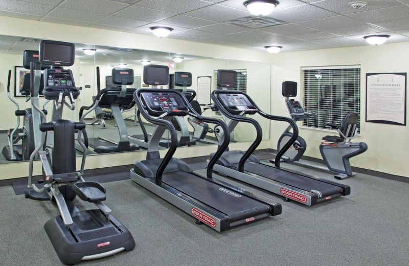 Fitness room at Staybridge Suites Stow.