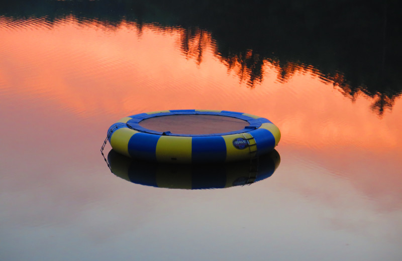 Water trampoline at Sleeping Bear Resort.