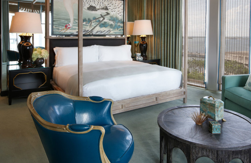Guest room at Viceroy Miami.