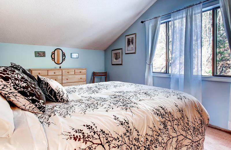 Rental bedroom at GetAway Vacations.