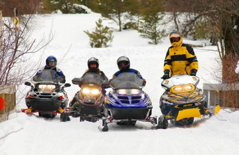 Snowmobiling near McGuire's Resort.