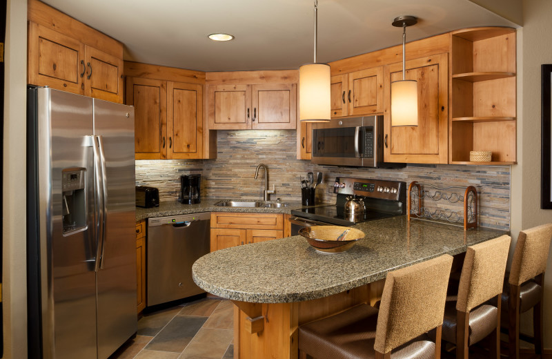 Guest kitchen at Grand Summit.