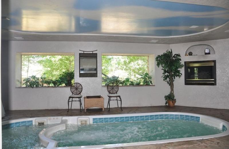 Indoor pool at Dicks Resort.