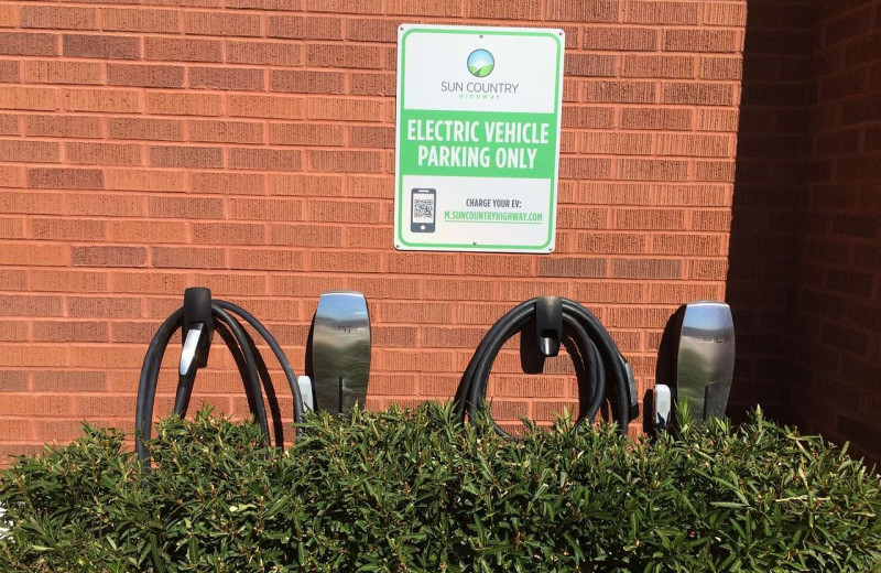 Electric vehicle parking at Best Western Coral Hills.