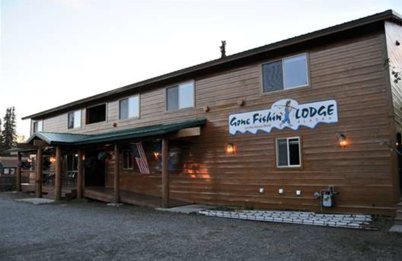 Exterior view of Gone Fishin' Lodge.