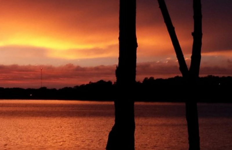 Sunset at Eden Acres Resort.