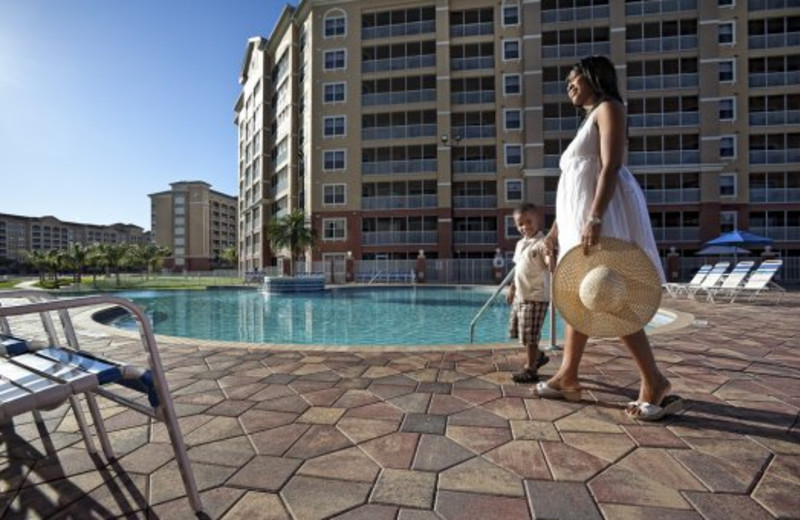 Family at pool at Westgate Vacation.