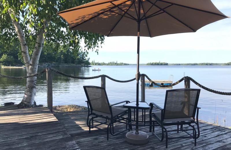 Dock view at Grandview of Lake Kabetogama.