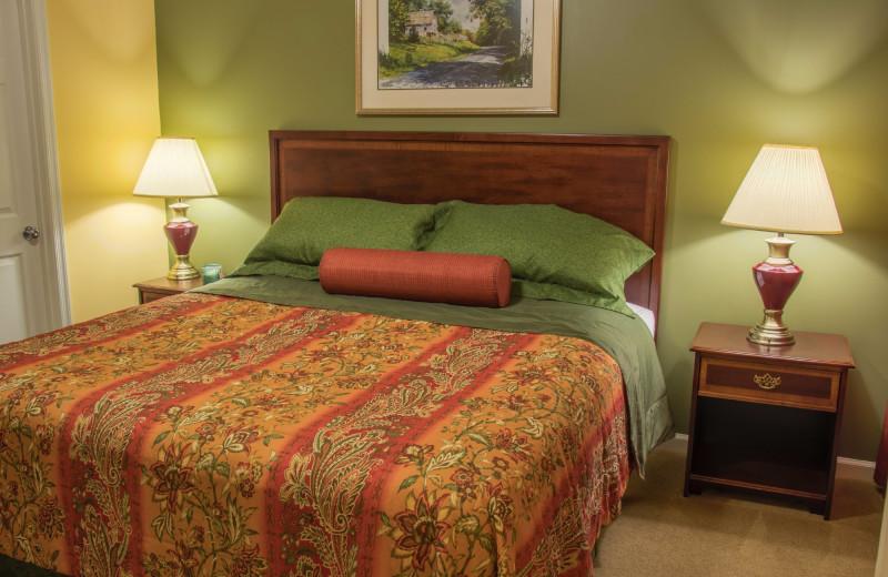 Guest bedroom at Massanutten Resort.