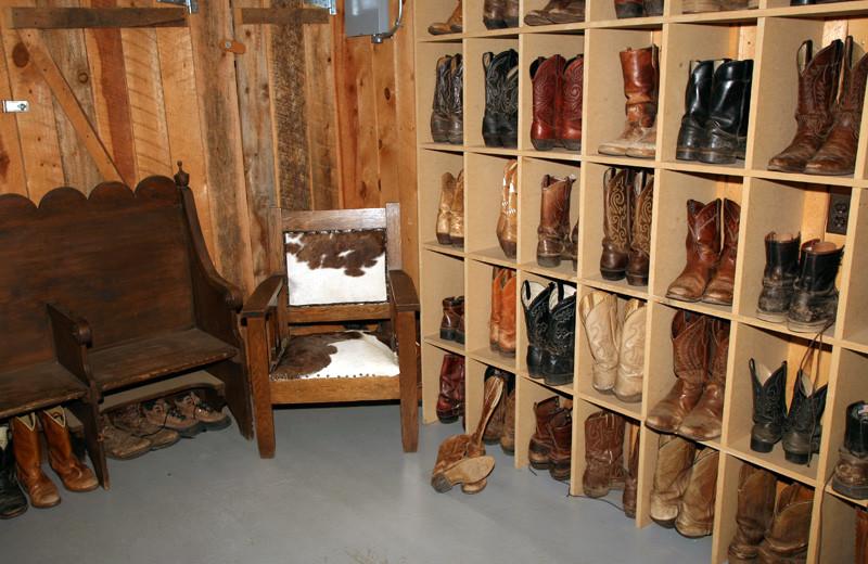 Shoes at Tumbling River Ranch.