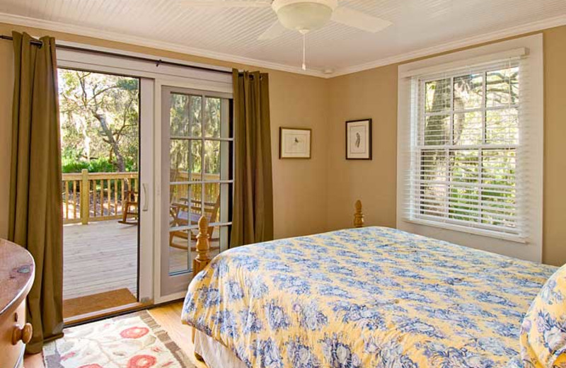 Michael Cottage bedroom at Lodge on Little St. Simons Island.