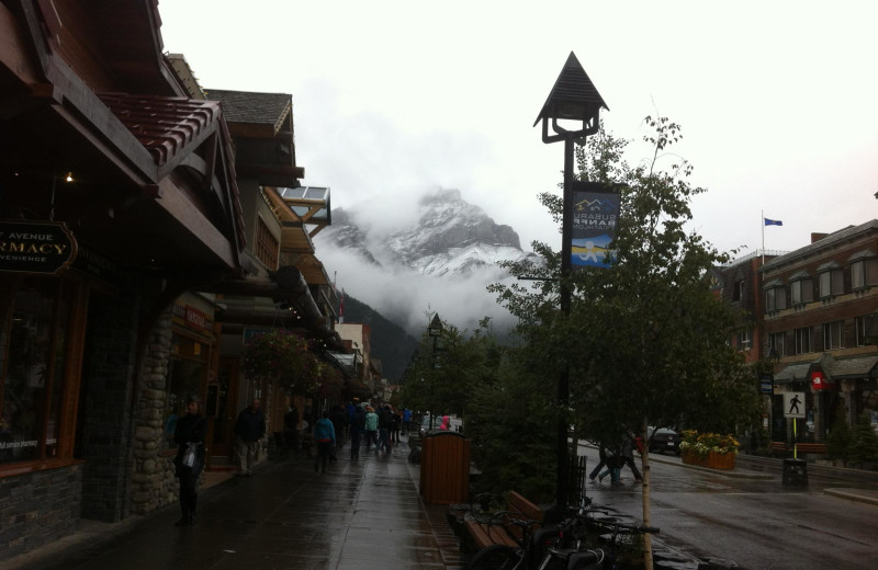 Town view at Banff Rocky Mountain Resort.