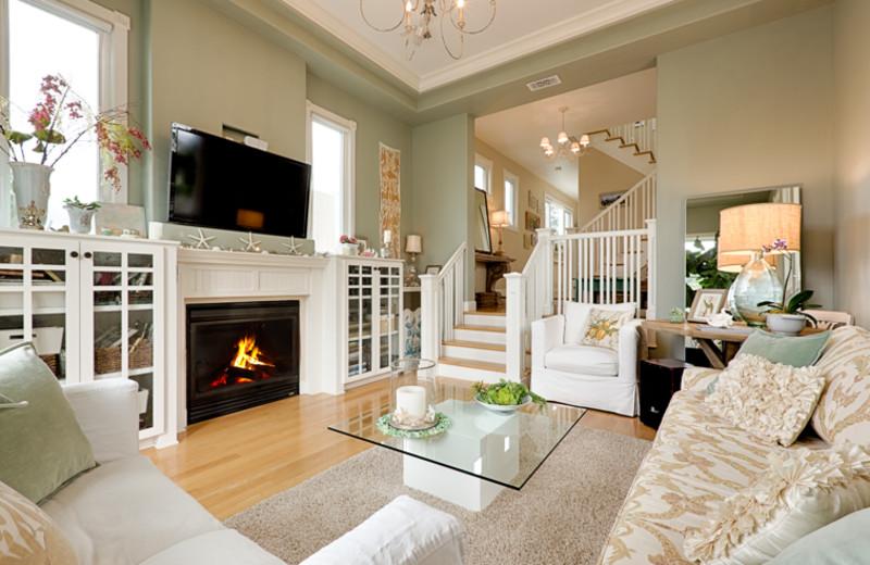 Vacation rental living room at Seabreeze Vacation Rentals, LLC.