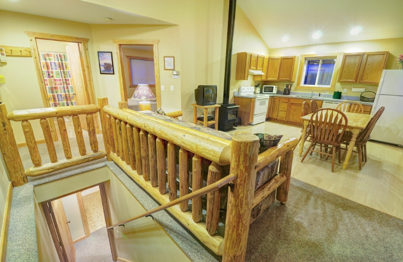 Our two bedroom cabins each have their own complete kitchen and BBQ grill in case you want to skip the restaurant for the night and do a little cooking yourself