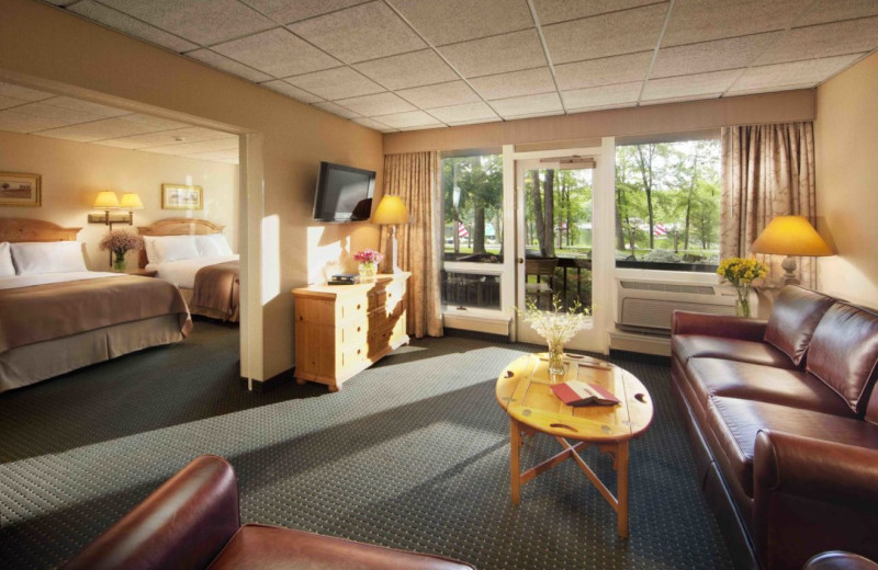 Guest suite at Woodloch Resort.
