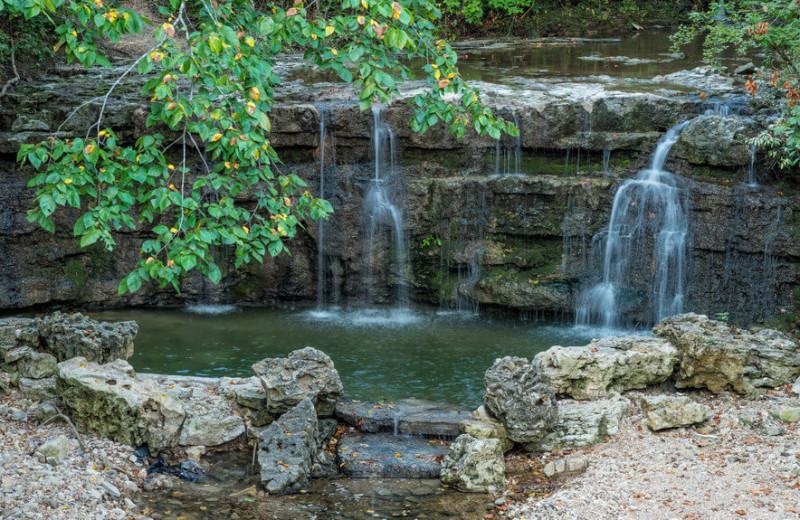 Waterfall at Westgate Branson Woods Resort.