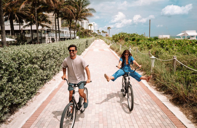 Bike rental at Eden Roc Miami Beach.