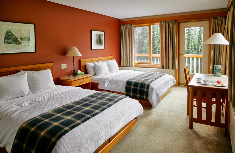 Guest room at CMH Bugaboos Lodge.