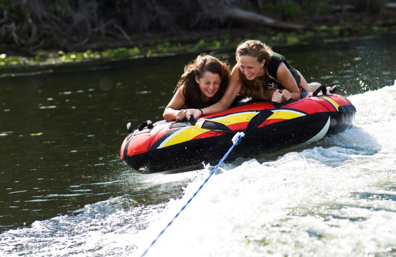 Water tubing at Hawks Landing Resort.