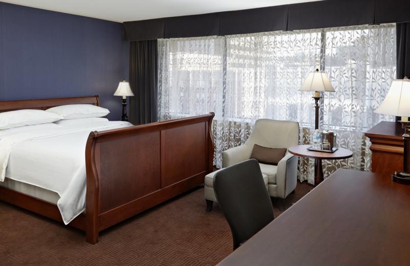 Guest bedroom at Sheraton Ottawa Hotel.