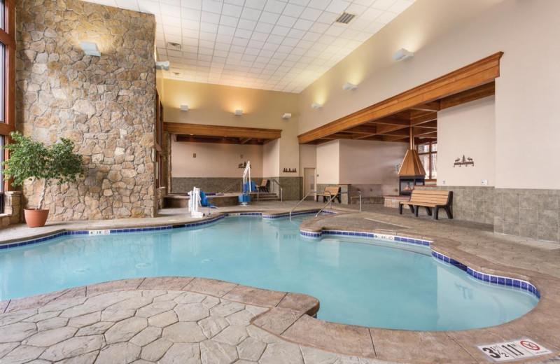 Indoor pool at Grand Timber Lodge.