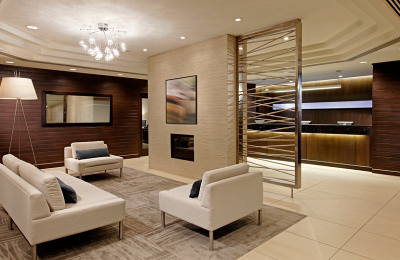 Lobby at Cambridge Suites Hotel Halifax.