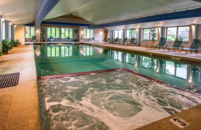 Indoor pool at Attitash Marketplace Motel.