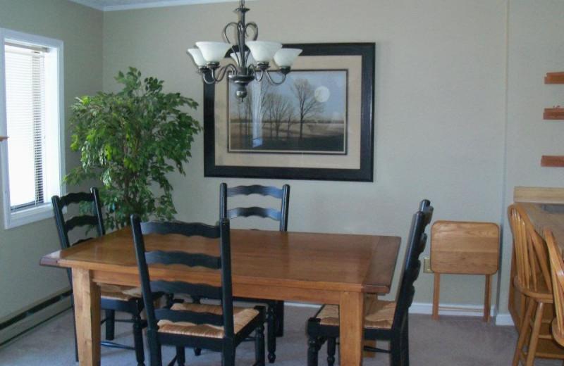 Vacation dining room at Sugar Ski and Country Club.