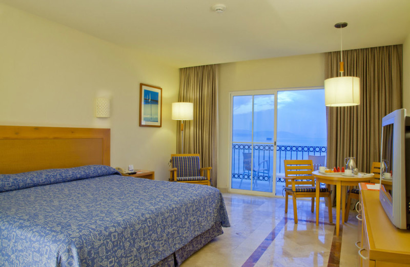 Guest room at Krystal Vallarta.