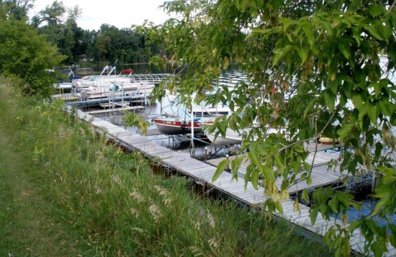 Docks at Bay View Resort.
