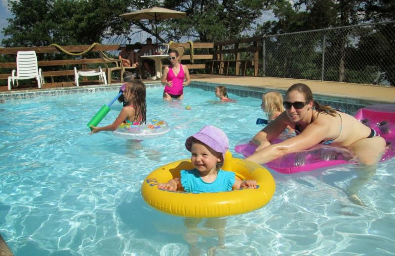 Outdoor pool at Lunker Landing Resort.