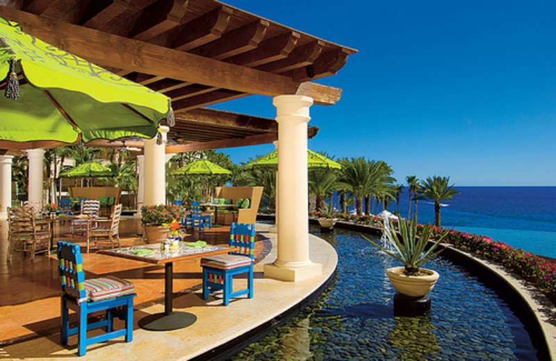 Outdoor cafe at Hilton Los Cabos Resort.