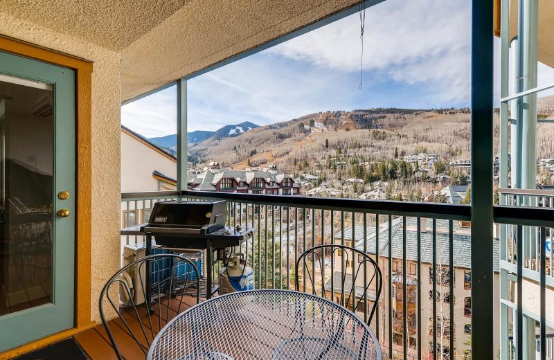 Rental Balcony at Centennial Lodge of Beaver Creek.