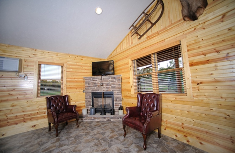 Cabin living room at Creekside Resort.